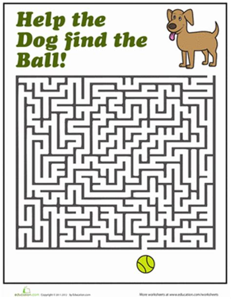 printable dog maze dog maze maze worksheets and child help