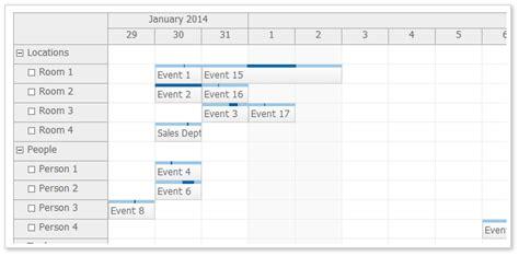 css calendar tutorial view types scheduler daypilot documentation