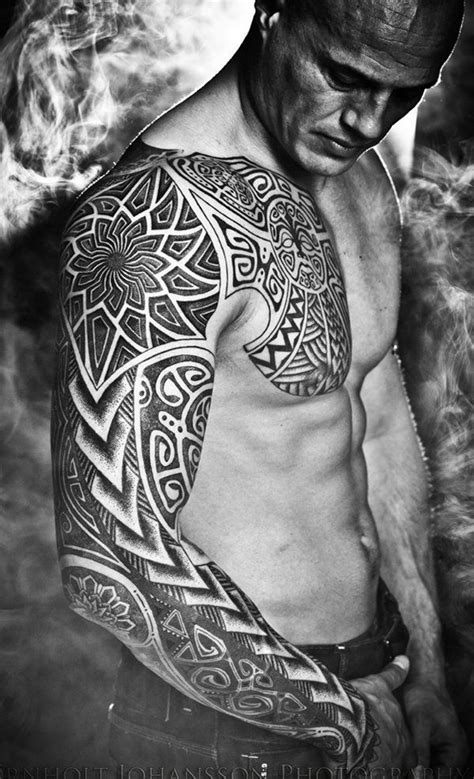 3 4 sleeve tattoo designs best 25 tribal sleeve tattoos ideas on tribal