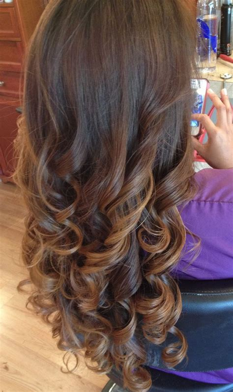getting hair curled and color hair color ombre long hair amanda lawrence pinterest