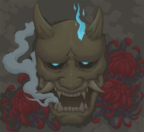 hannya mask tattoo deviantart possessed hannya mask by uniquetechnique on deviantart