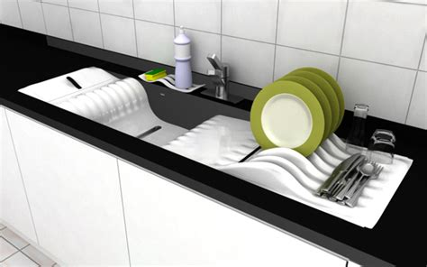 designer kitchen sinks linear flow of dishwashing yanko design