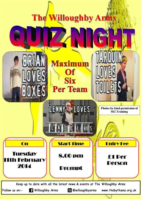14 best images about pub quiz on pinterest game of willoughby arms quiz 11 02 2014 thebythams org uk