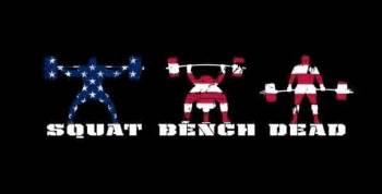 squats bench deadlift squat bench deadlift fitness humor
