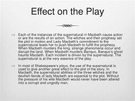 macbeth themes supernatural supernatural in macbeth essay macbeth essays co ks macbeth