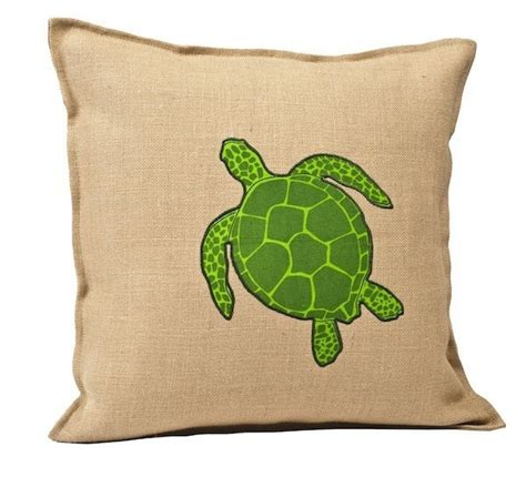 Turtles Pillows by Green Sea Turtle Washed Burlap Pillow Terrific Turtles