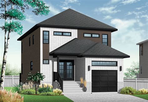 narrow lot modern house plans modern home perfect for a narrow lot drummond house