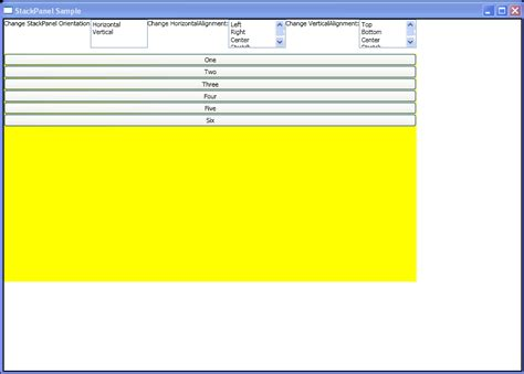 xaml horizontal layout use stackpanel to arrange child objects in a single line