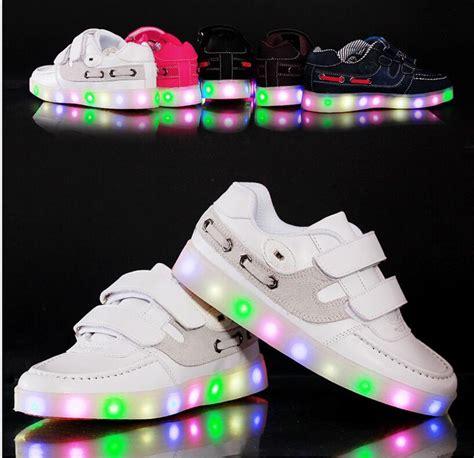 eur 26 37 new cool children led shoes boys led lights for shoes sole luminous