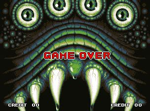 ending for king of the monsters 2 bad end(neo geo)