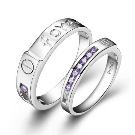 Cincin Silver Simple Titanium 316l quot i will always be with you quot fashionable 316l titanium stainless steel cz rings price for