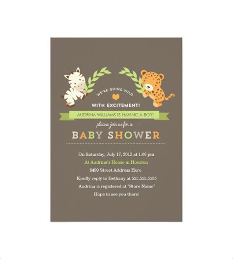 baby shower card template 32 free printable word pdf