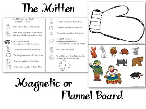 felt board templates free printable the mitten flannel board felt board magnetic board