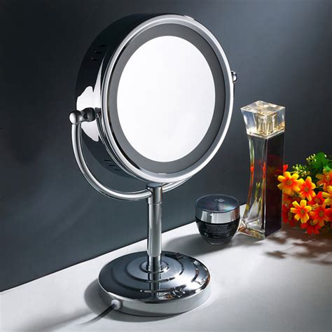 makeup mirror stand with lights 10x magnification 28led light up cosmetic