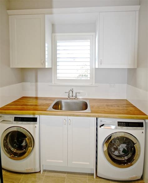 Collaroy Plateau Project Laundry Timber Bench Top Bench Laundry