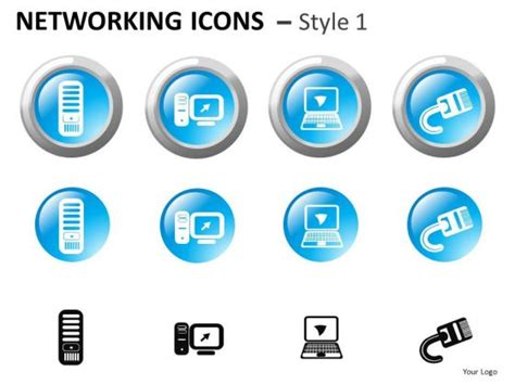network diagram icons ppt powerpoint clipart showing computer networking icons