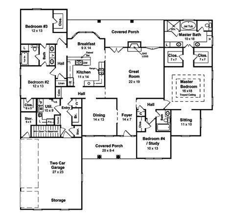 1 story ranch style house plans ranch style house plans 1334 square foot home 1 story 3 luxamcc