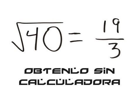 raiz cuadrada de 40 ra 237 z cuadrada de cuarenta m 233 todo de diferenciales