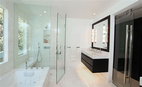 calacatta marble bathroom calacatta marble used in beverly hills home transforms outdated bathroom 2016 09 01