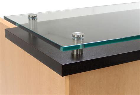 standing reception desk custom standing height glass top reception desk series 6