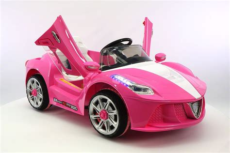 car ferrari pink ferrari spider style kids ride on car mp3 12v battery