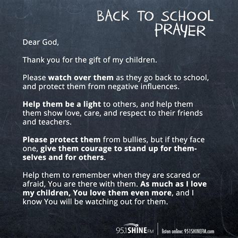 shine daily parents   school prayer  shine fm