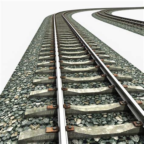 The Rails Railway Rail 3d Obj