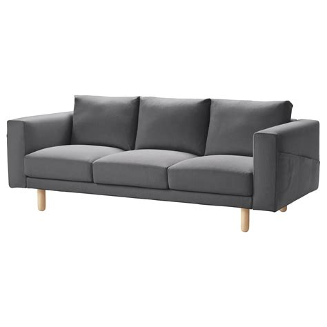 sofa one norsborg three seat sofa finnsta dark grey birch ikea