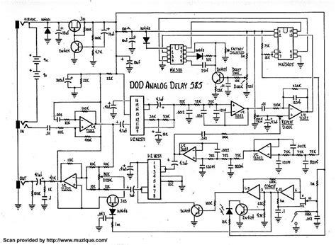 analog delay schematic diagram circuit and schematics