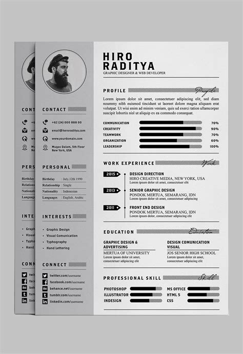 Adobe Illustrator Cv Template by 7 Free Editable Minimalist Resume Cv In Adobe Illustrator