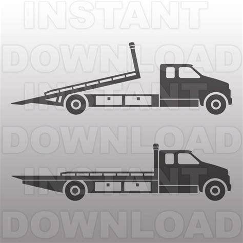 tow boat svg rollback truck svg filetow truck svg fileflatbed truck svg