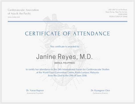 conference certificate of participation template attendance certificate templates canva