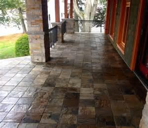 Slate Backsplash Kitchen Tiled Porch In African Slate Rustic Other By
