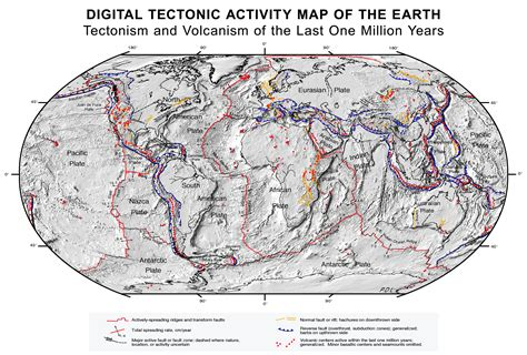 plate boundaries map about plate tectonics