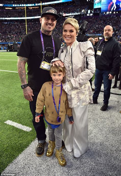Carey Fronts Pinko Caign by Carey Hart Is Proud Of Pink After She Sings At Bowl