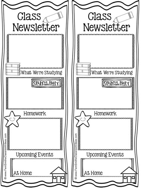 classroom weekly newsletter template classroom freebies fern smith s free parent communication