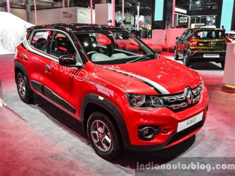 renault kuv renault displays specially accessorised kwid to showcase