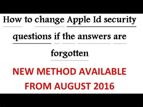 reset blackberry id forgot security question how to change apple id security questions without rescue