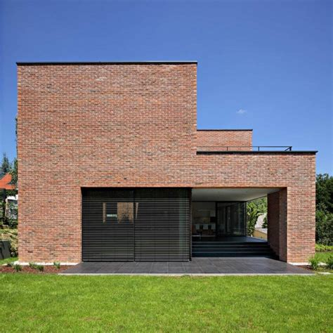 minimalist brick house impressive brick monolithic home with minimalist interiors podfuscak residence freshome