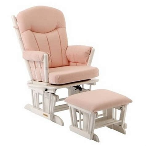 nursery rocking chairs with ottoman bridgeport glider and ottoman set white finish with pink