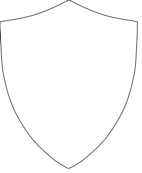 shield drawing template picture of a shield cliparts co