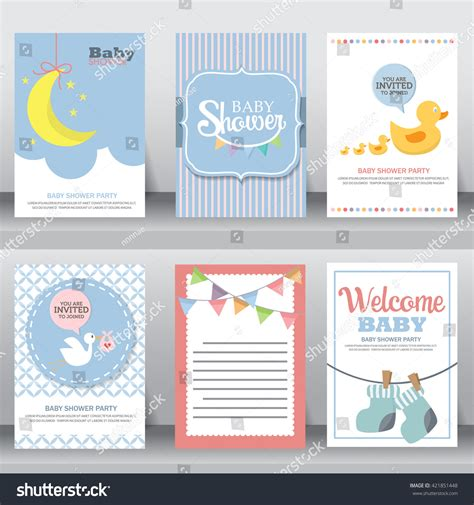 happy birthday card template ilustrator happy birthday baby shower celebration stock
