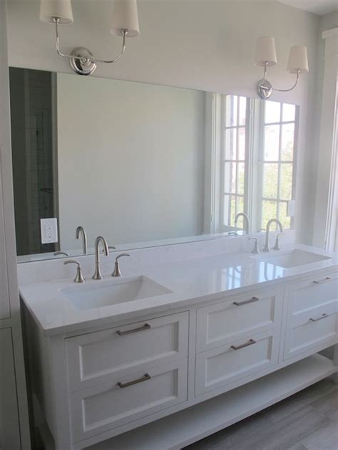 White Bathroom Cabinets With Countertops by White Quartz Bathroom Countertops Design Ideas