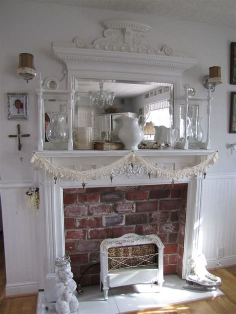 Shabby Chic Fireplace Ideas by 32 Best Ideas About Mantles On Pinterest Fireplaces