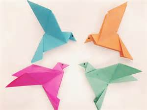 How To Make A Simple With Paper - how to make a paper bird easy origami