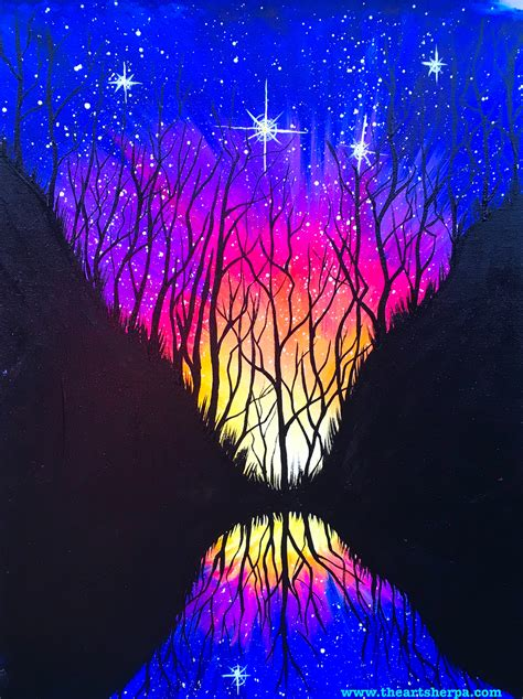 acrylic paint tutorial galaxy celestial mirror a galaxy painting fully guided step by