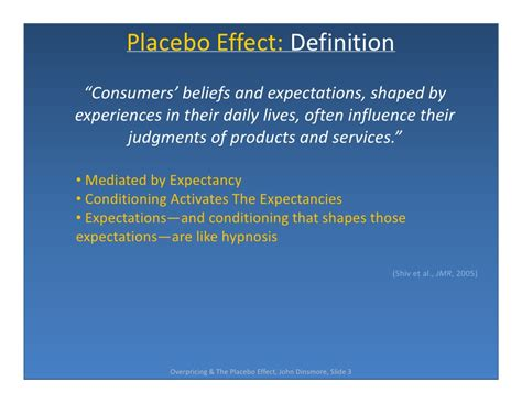 affects meaning price perception the placebo effect in marketing