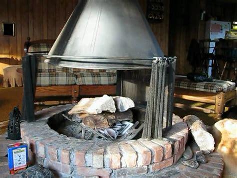 Circular Fireplace by Telescoping Freestanding Circular Fireplace