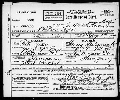 Chicago Illinois Birth Records Best Of Image Of Birth Certificate Chicago Business Cards And Resume Business