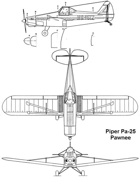 pa diagram piper pa 25 pawnee pictures technical data history